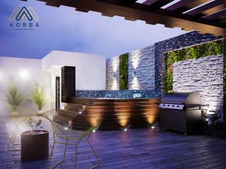 Modern Terrace by KORBA Arquitectos Modern