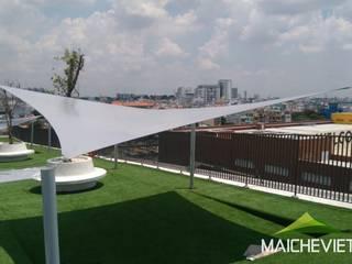 Công ty TNHH Havico Việt Nam Balcones y terrazas de estilo minimalista Blanco