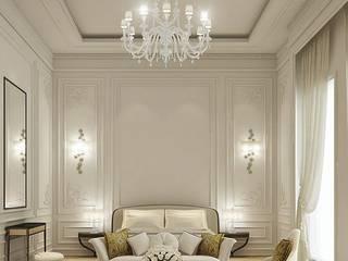 كاسل للإستشارات الهندسية وأعمال الديكور والتشطيبات العامة Salas de estilo moderno Granito Amarillo