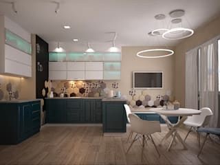 Квартира для молодой семьи: Кухни в . Автор – Epatage Design E