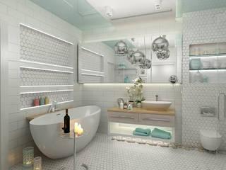 Квартира в ЖК Бригантина: Ванные комнаты в . Автор – Epatage Design E