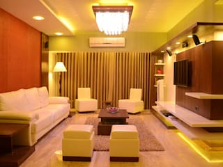LOK NIRMAN 1800 sqft Asian style living room by Aesthos Interior Design and Consultancy Asian