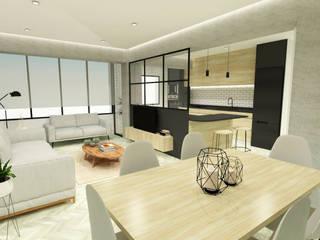 Un piso para Imanol Salones de estilo moderno de OC Arquitectura Moderno