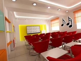 Modern Study Room and Home Office by DETAY MİMARLIK MÜHENDİSLİK İÇ MİMARLIK İNŞAAT TAAH. SAN. ve TİC. LTD. ŞTİ. Modern