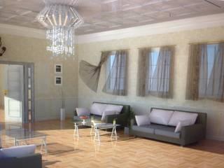 Salon Tasarımı DETAY MİMARLIK MÜHENDİSLİK İÇ MİMARLIK İNŞAAT TAAH. SAN. ve TİC. LTD. ŞTİ. Rustik Oturma Odası
