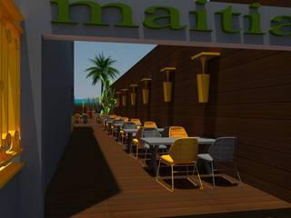 Restorant Tasarımı DETAY MİMARLIK MÜHENDİSLİK İÇ MİMARLIK İNŞAAT TAAH. SAN. ve TİC. LTD. ŞTİ. Akdeniz Balkon, Veranda & Teras