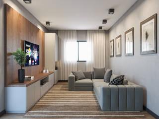 Sala de TV:   por Render 360 Ilustração Digital