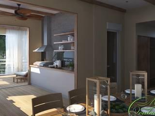 Balcon, Veranda & Terrasse minimalistes par Компания архитекторов Латышевых 'Мечты сбываются' Minimaliste