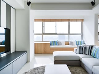 直方設計有限公司 Modern living room Grey