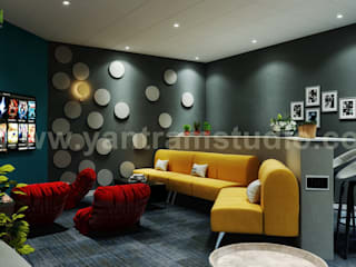 Luxury Modern Media Room Interior Design by Yantram Architectural Design Media Room Of Home Plans , California - USA Yantram Architectural Design Studio Modern