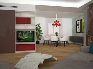 Living room by B+P architetti, Modern