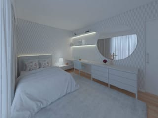 MIA arquitetos Nursery/kid's roomWardrobes & closets Paper Blue