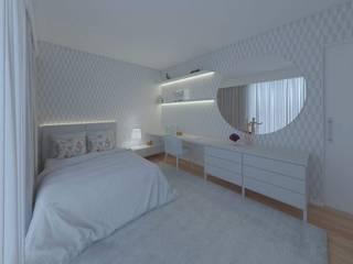 MIA arquitetos Dormitorios infantiles Clósets y cómodas Papel Azul