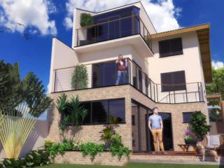 CASA MORETI: Casas pequenas  por STUDIO ENGENHARIA,Moderno