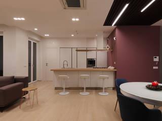 """APPARTAMENTO """"PACCIANI"""": Cucina in stile  di Studio di Progettazione e Design 'ARCHITÈ',"""