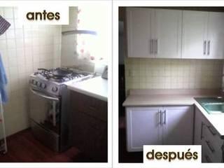 Antes y Despues: Cocinas pequeñas de estilo  por VIVE arquitectura