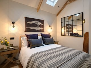 The Nook, Near Rock | Cornwall Perfect Stays Kamar Tidur Gaya Skandinavia