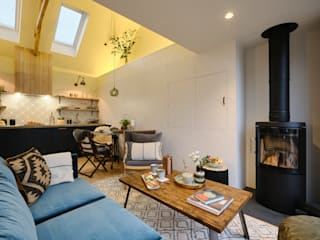 The Nook, Near Rock | Cornwall Perfect Stays Ruang Keluarga Gaya Skandinavia