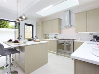 Design and Build London Renovation Kitchen units Solid Wood Beige