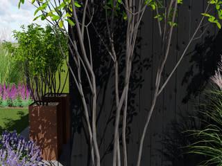 Ogród przy bliźniaku od Naturalnie - Studio Projektowe