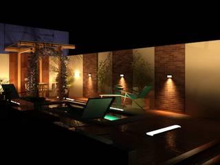 Desenho de uma reforma para área de Piscina por TAFS interiores e 3D Moderno