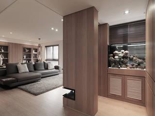 Moderner Flur, Diele & Treppenhaus von 形構設計 Morpho-Design Modern