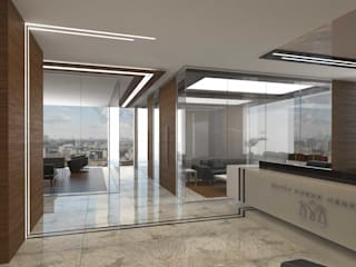 ANTE MİMARLIK Office spaces & stores Beige
