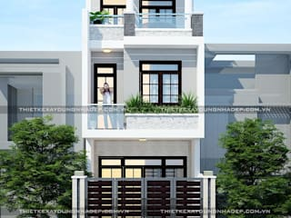 Bản vẽ thiết kế nhà 4x12m bởi Công ty cổ phần tư vấn kiến trúc xây dựng Nam Long Hiện đại