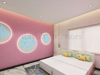 GIRLS BED ROOM:   by RAYON INTERIORS