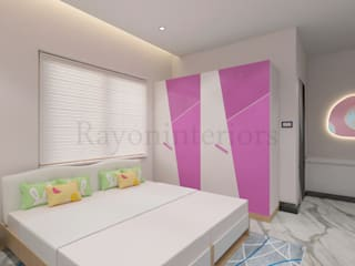 GIRLS BED ROOM:  Girls Bedroom by RAYON INTERIORS