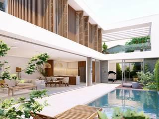 Casas de estilo  por Studio Calla Arquitetura, Minimalista