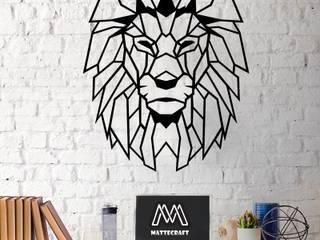 Lion metal tablo mattecraftt Klasik