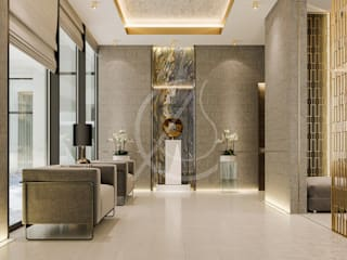 Interior Design of Modern Luxury Residence:  Corridor & hallway by Comelite Architecture, Structure and Interior Design