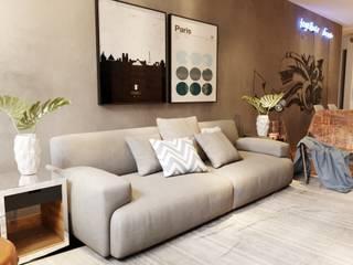 Projeto de Apartamento Design de Interiores |  Recreio dos Bandeirantes | RJ: Salas de jantar  por Gelker Ribeiro Arquitetura | Arquiteto Rio de Janeiro