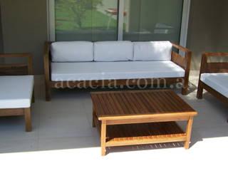 Sillon en madera maciza:  de estilo  por Acacia Muebles de Jardin
