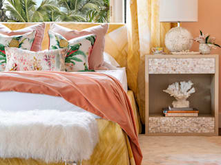 Pantone Colour of 2019: Living Coral Eclectic style bedroom by Design Intervention Eclectic