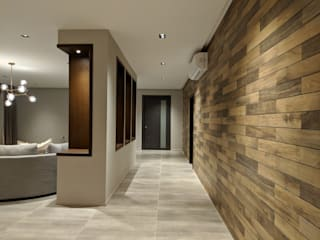 Modern corridor, hallway & stairs by FN Design Modern