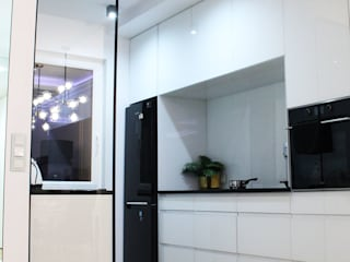 KALKAR interior design in Lodz - REAL FOTO: styl , w kategorii  zaprojektowany przez Pracownia Projektowa MiM Twardowscy,