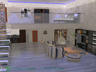 شقه دوبلكس علي مساحه 60م :  منازل صغيرة تنفيذ en decoration