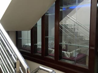 Residential Interiors in indore Asian style corridor, hallway & stairs by Jamali interiors Asian