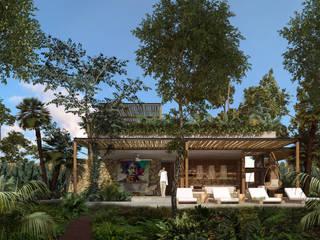Casa Vida : Villas de estilo  por Obed Clemente Arquitectos,