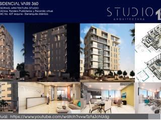 VISUALIZACIÓN ARQUITECTÓNICA:  de estilo  por Studio 1:1 Arquitectura SAS