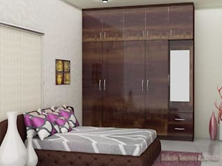 Smart designs for bedroom:  Bedroom by ECLECTIC INTERIORS AND SERVICES