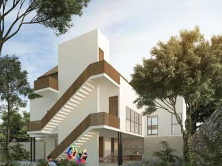 Casa Maravilla, Bacalar Quintana Roo: Villas de estilo  por Obed Clemente Arquitectura,