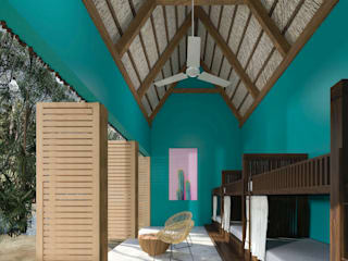Hostalito Tulum: Recámaras pequeñas de estilo  por Obed Clemente Arquitectura,