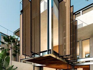 Villas Holistica: Albercas de jardín de estilo  por Obed Clemente Arquitectura,