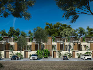 Villas Holistica: Villas de estilo  por Obed Clemente Arquitectura,