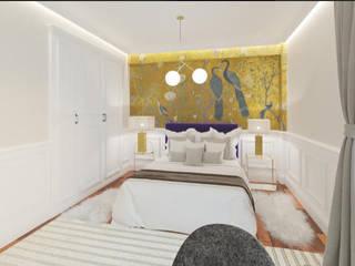 Dormitorio con baño de NRN diseño de interiores Moderno