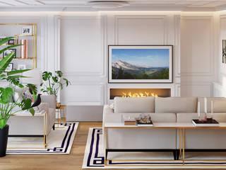 Salón comedor Salones de estilo moderno de NRN diseño de interiores Moderno