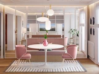 Salón comedor Comedores de estilo moderno de NRN diseño de interiores Moderno